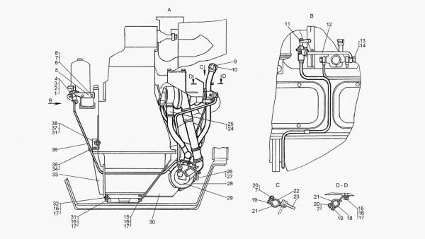 Установка подогревателя (для трактора с пусковым двигателем) - продолжение
