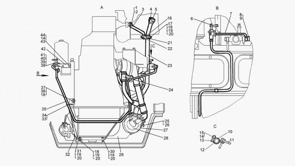 Установка подогревателя (для трактора с электростартерным пуском двигателя) - продолжение