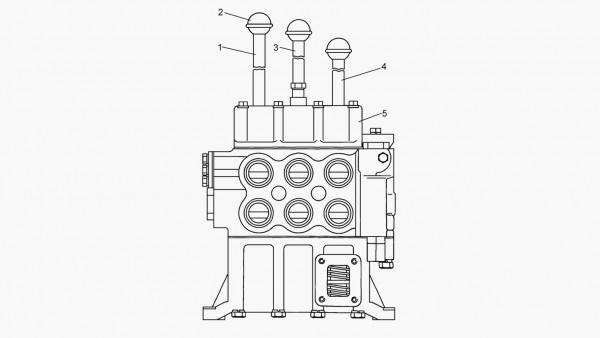 Установка рычагов гидрораспределителя (для трактора с механической трансмиссией) 50-26-702СП*; 50-26-702-01CП**; 50-26-702-02CП*3