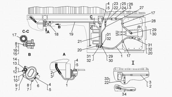Гидравлическая система управления (для трактора с механической  трансмиссией)
