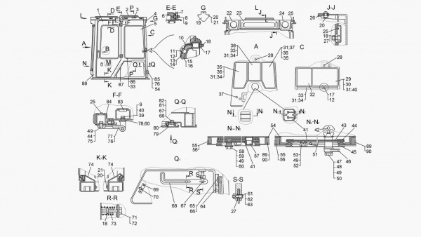 Кабина (для трактора с гидромеханической трансмиссией)