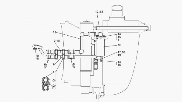 Гидравлическая система питания, управления и смазки гидромеханической трансмиссии – продолжение