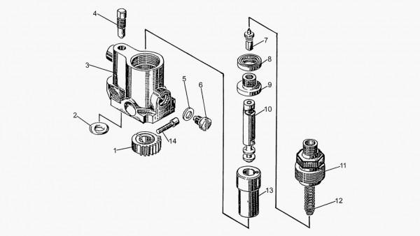 Секция топливного насоса 51-67-154СП