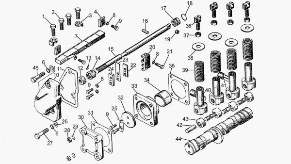 Топливный насос (Механизм привода плунжеров)