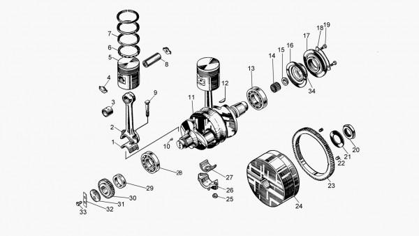 Муфта сцепления пускового двигателя Т-170-