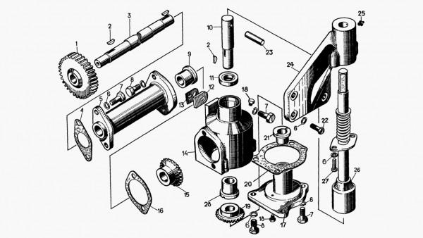 Механизм проворачивания коленчатого вала пускового двигателя
