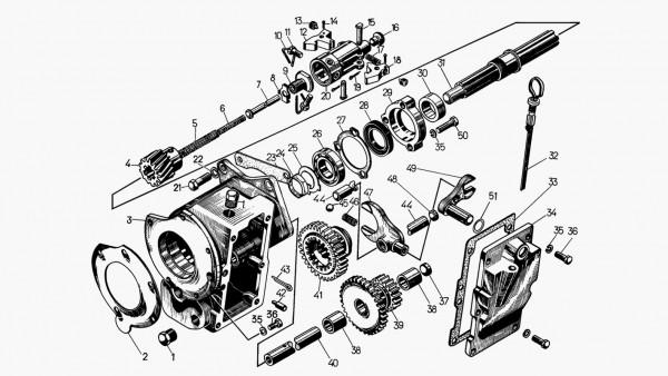 Редуктор пускового агрегата 17-76-8СП